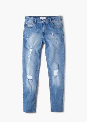 Mango Cropped Skinny ISA Jeans