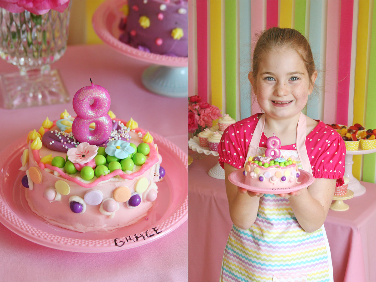 Cake Decorations For Birthday Party : Picnic Party: Birthday Parties For Girls