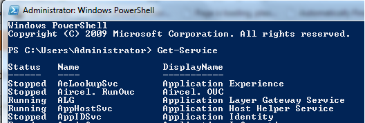 Start, Stop and Restart Windows Service using Powershell