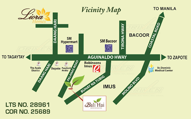 bali Hai Residences Imus Site Location