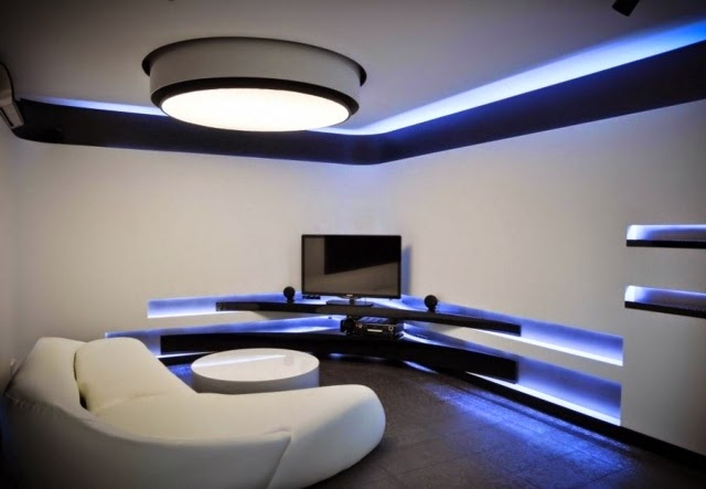 Lovely Modern Led Lights For False Ceiling: Beautiful Living Room With LED  Luminaire