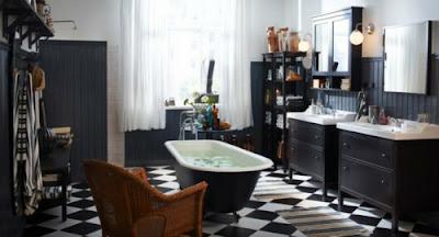 color blanco y negro baños
