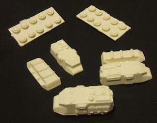 The Pitbull prior to assembly - the LAV comes in a similar number of pieces