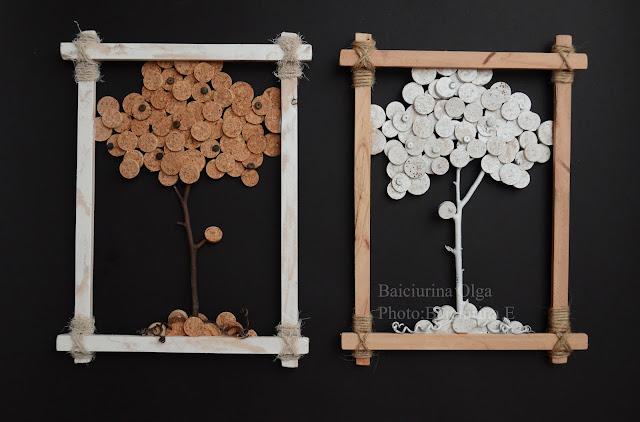 Панно на стену своими руками из подручных материалов 11