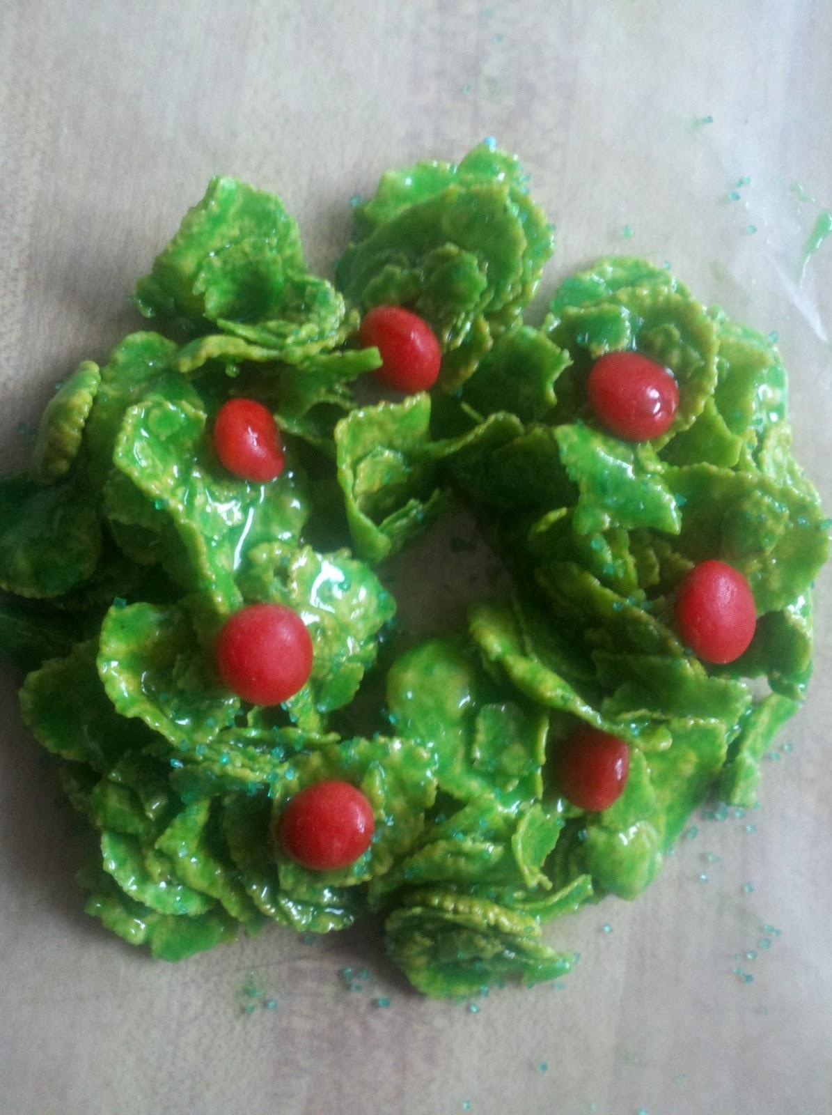 Aj Arndt Books Blog Weekend Cooking Christmas Cornflake Wreaths