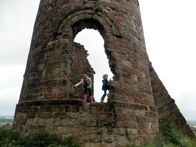 children playing at tutbury castle
