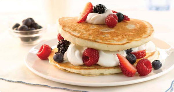 4th of july berries cream pancakes lindsay ann bakes to make these patriotic dish just prepare krusteaz buttermilk pancake mix as directed let cool before layering start with 1 pancake for the bottom layer ccuart Choice Image