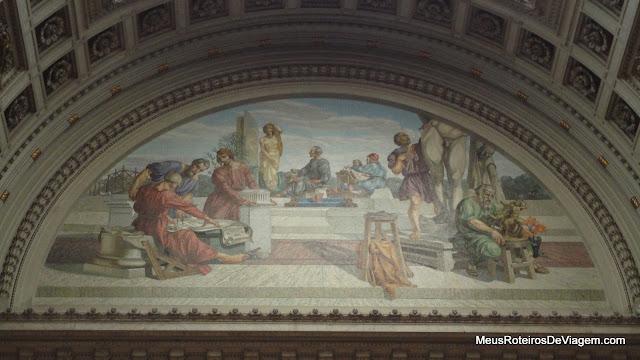 Mosaico no Palácio Legislativo - Montevidéu, Uruguai