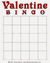 Valentine's Day Blank Bingo Card 2