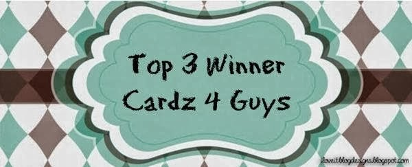 I made Top 3 at Cardz 4 Guys January 2014