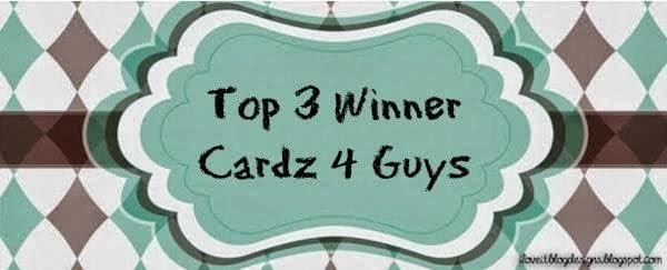 I made Top 3 at Cardz 4 Guys January 2014