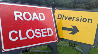 Road Closed and Diversion Signs