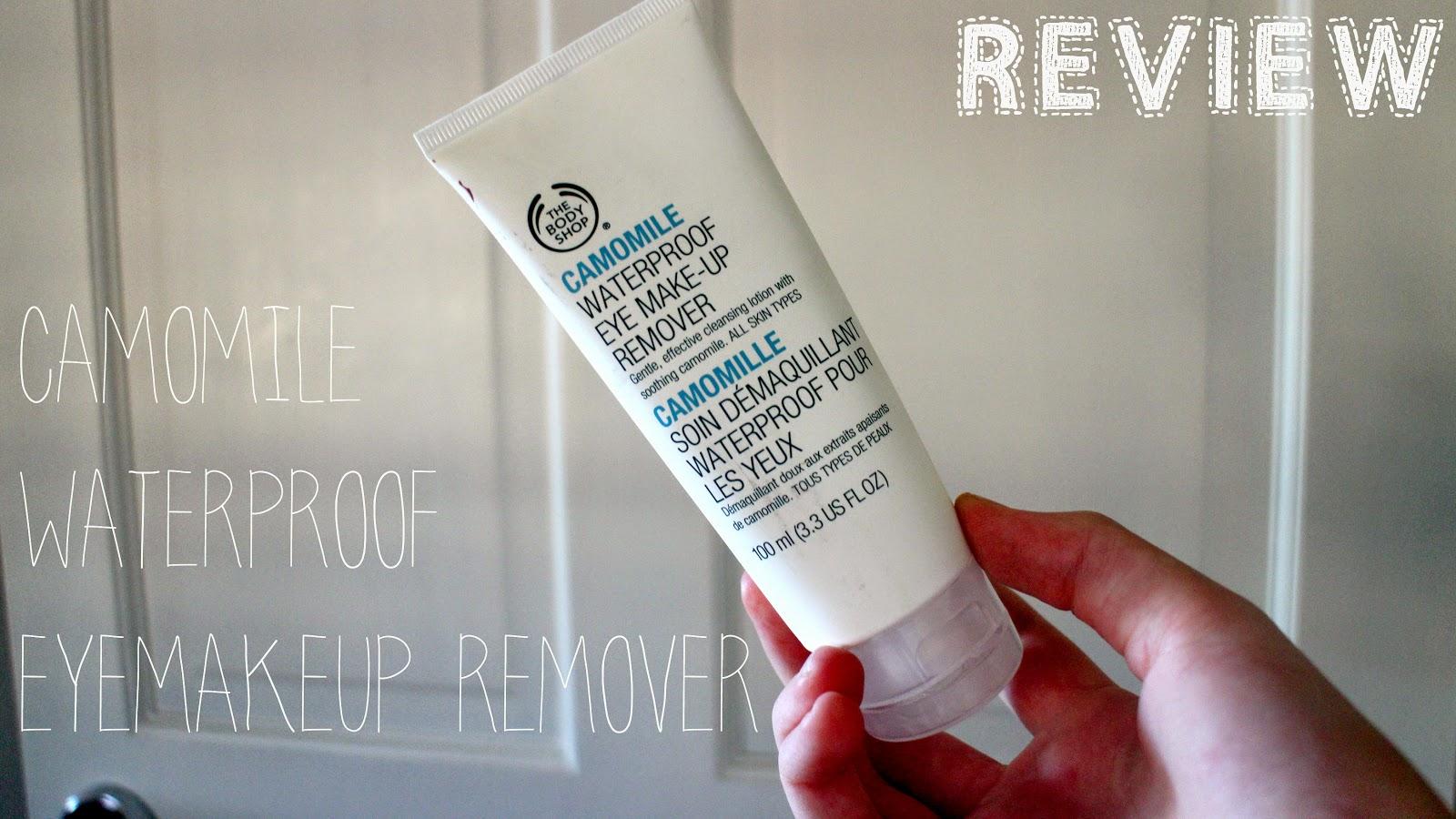 Camomile waterproof eye makeup remover // R E V I E W