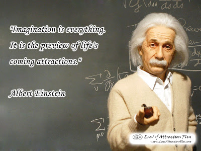 Free Law of Attraction Wallpaper with Quote by Albert Einstein