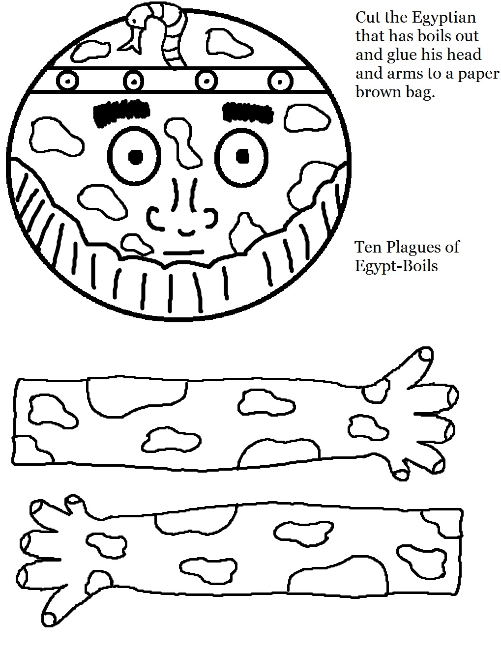 the ten plagues coloring pages - photo#36
