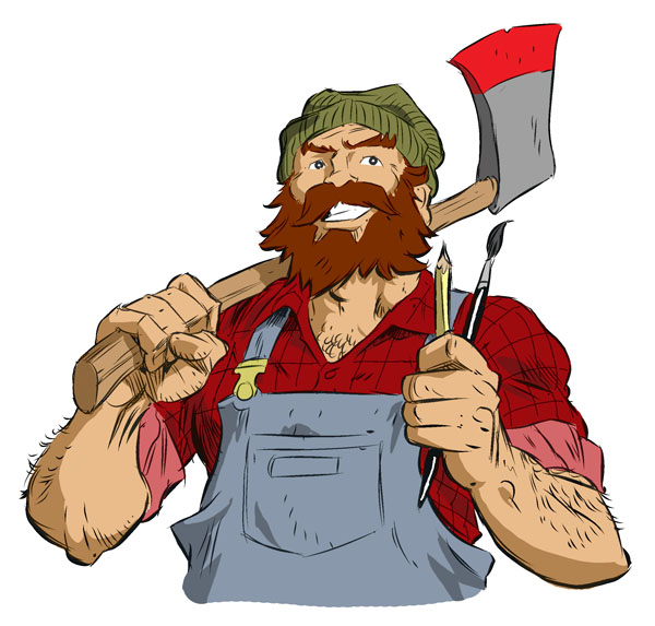 Lumberjack drawing