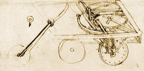 Inventions of Leonardo da Vinci: car