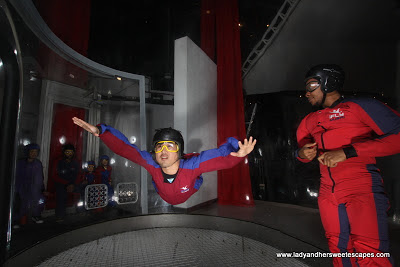 Superman Wannabe at Ifly Dubai