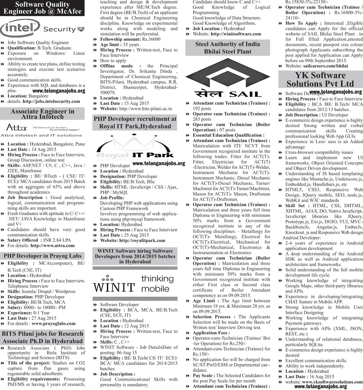 Today telnagana news paper jobs all latest telangana govt jobs telangana state public service commission www tspsc gov in
