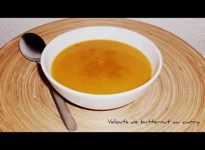 image Velouté de butternut (ou citrouille) au curry