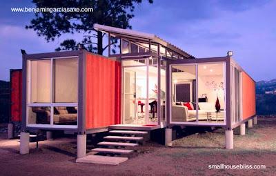 Casa residencial de bajo costo hecha con contenedores reciclados
