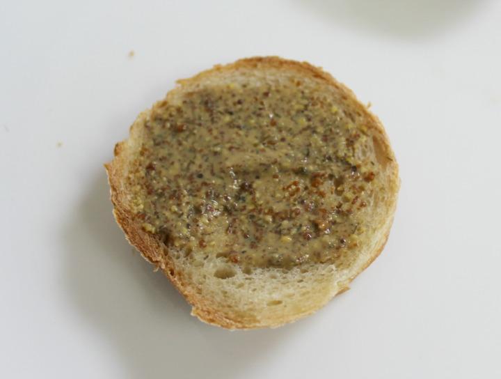 Mustard & Co. Garlic Dill Mustard on bread