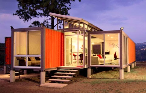 House made with recycled containers