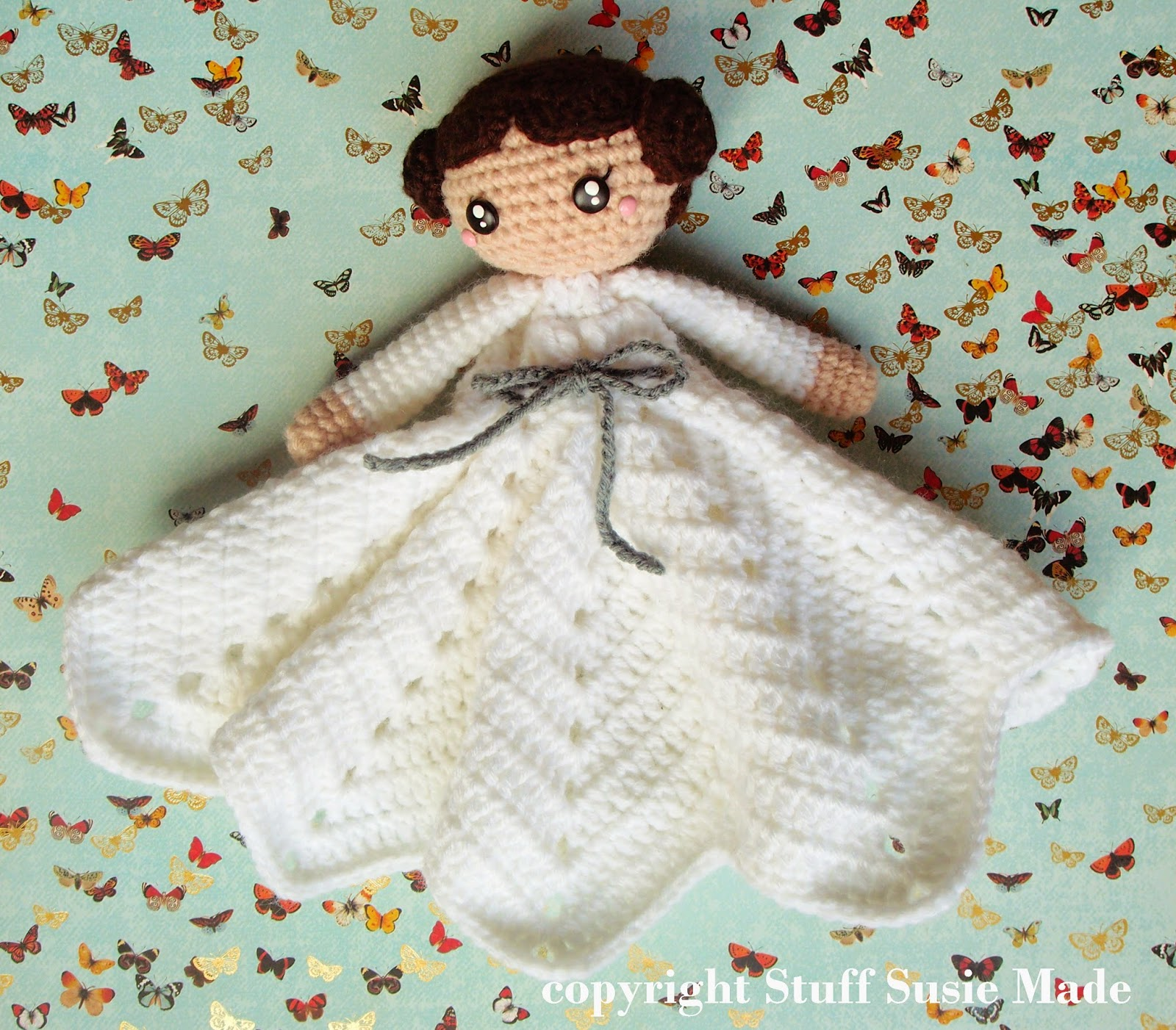 Stuff Susie Made Princess Leia Blankie Free Crochet Pattern And