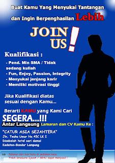 Loker Lampung, PT Elite (Catur Asia Sejahtera)