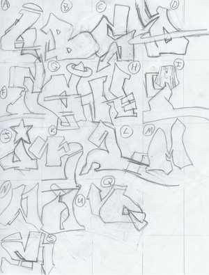Graffiti Alphabets Sketch by Shy-Tyson