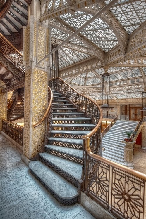 The Rookery Chicago stairs design