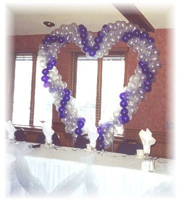 Ideal types of decorations are once again with a bouquet of balloons three