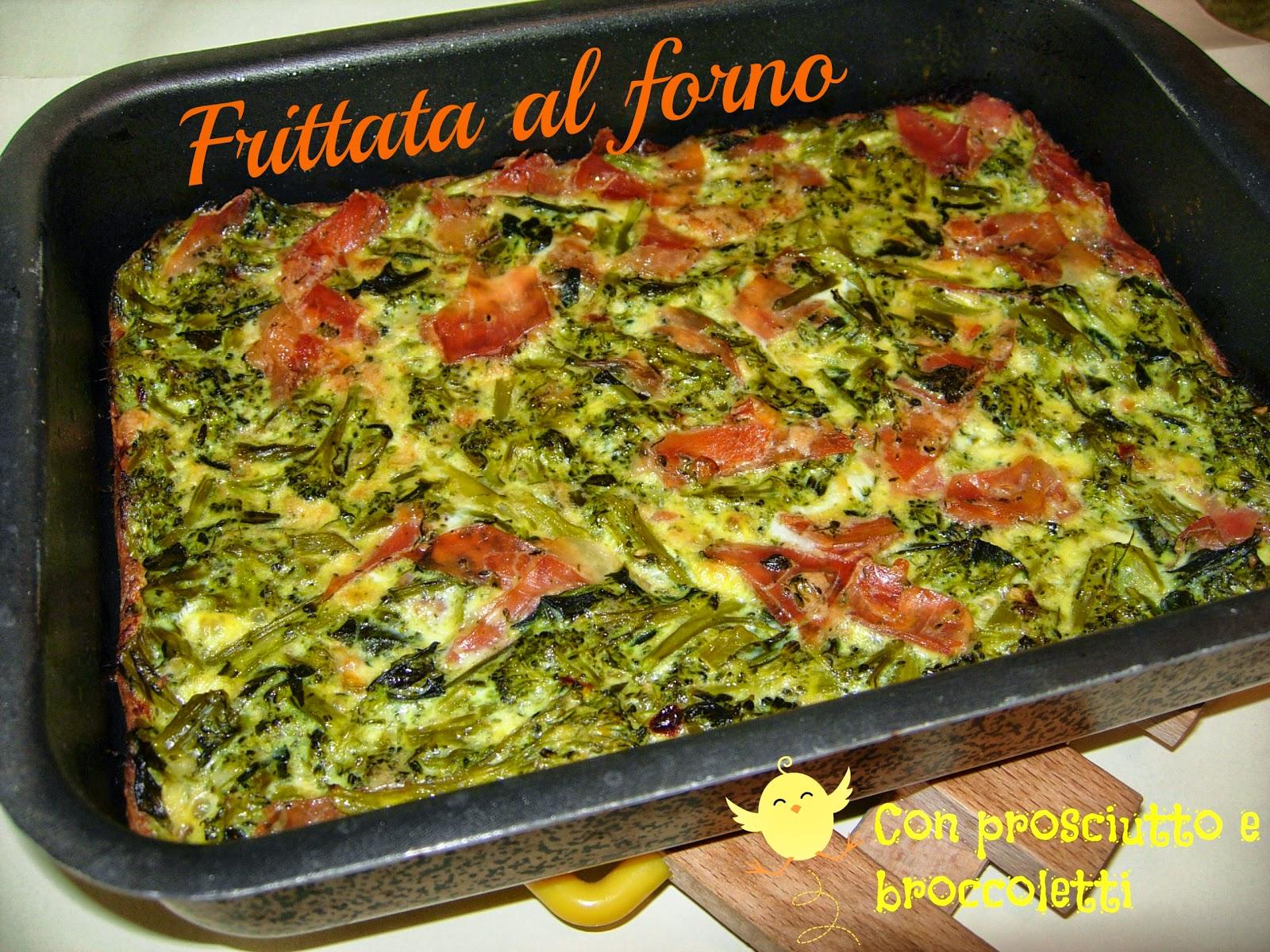 faccia tosta - frittata (al forno) di broccoletti e prosciutto