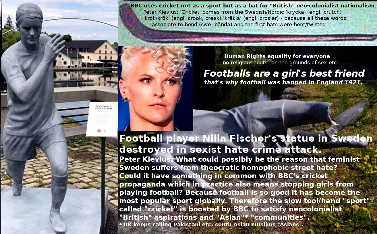 Statues  of football player Nilla Fischer and Caroline Seger vandalized in Sweden