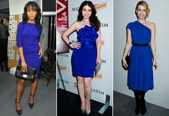 Vestido azul q cor de sapato usar