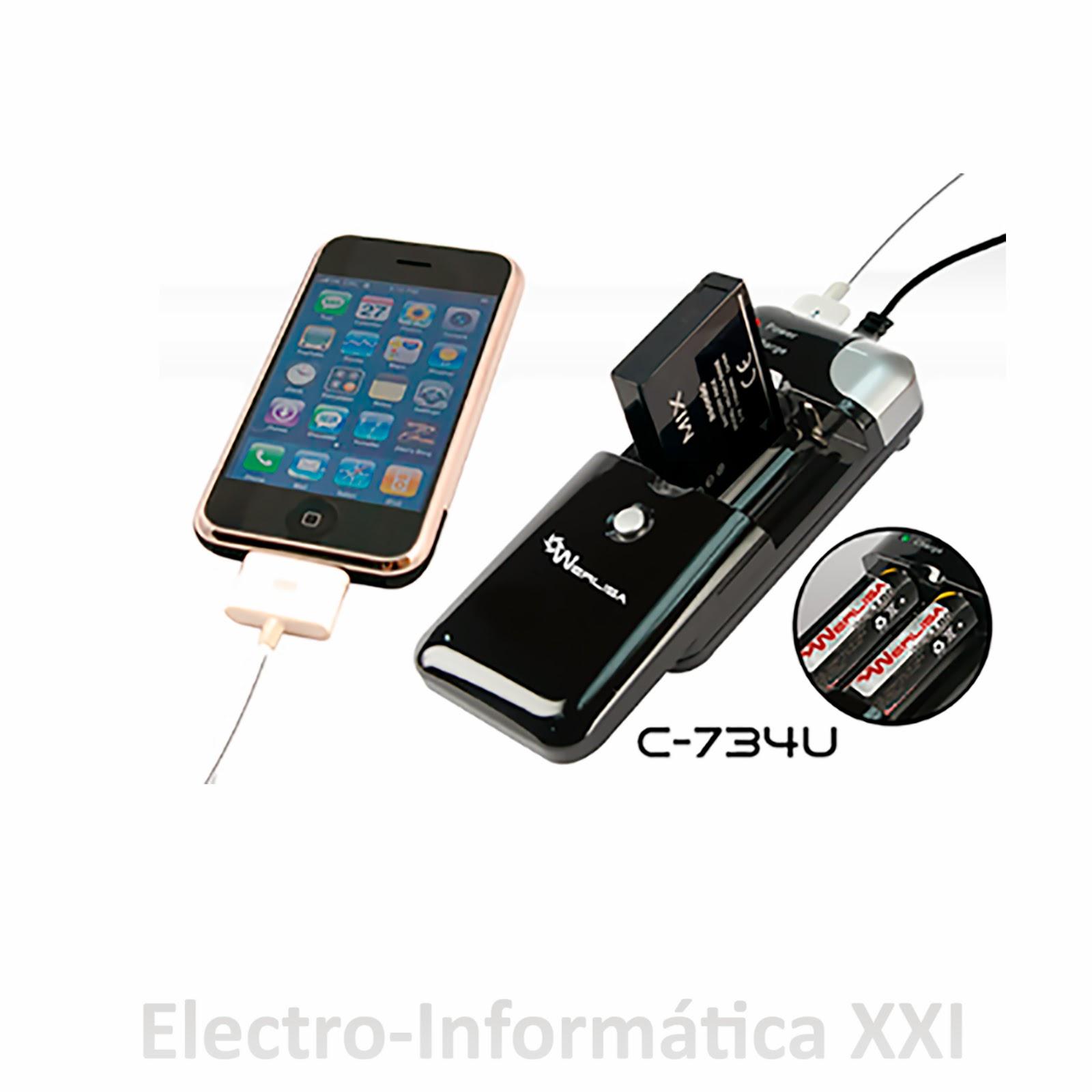Cargador werlisa de pilas baterias iphone usb para coche - Bateria para casa ...