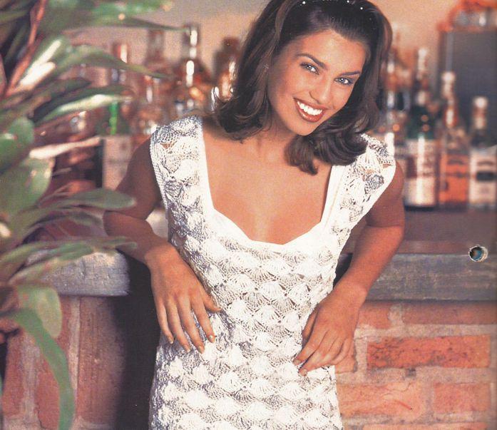 Vestido Blanco a Crochet