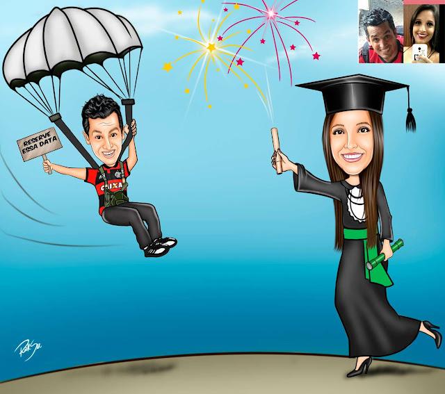 #comemorar #festa #amor #namorados #paraquedas #lindos #personalizado