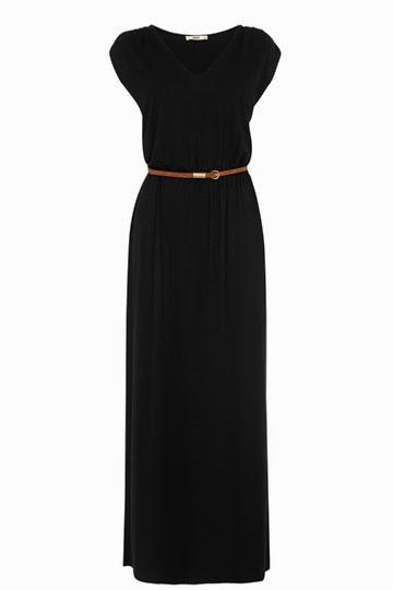 oasis black maxi dress