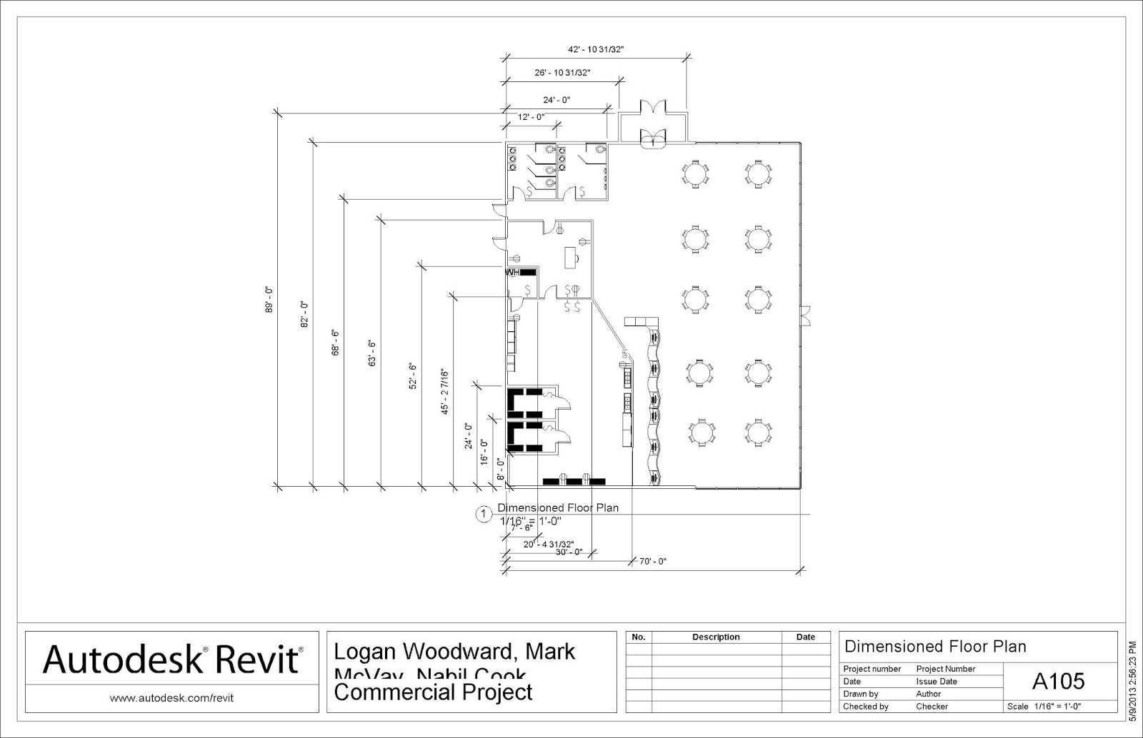 pltw cea commercial building project team lnm jd class blog floor plan dimensioned