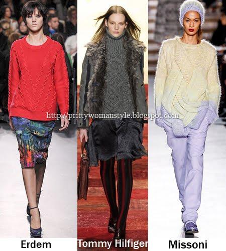 Пуловери с релефна плетка Тенденции есен/зима 2011/12