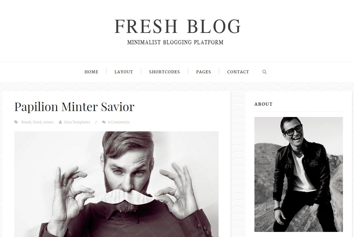 Fresh Blog Free Blogger Template 2015 - Msn4Free - Free Blogger Templates 2015
