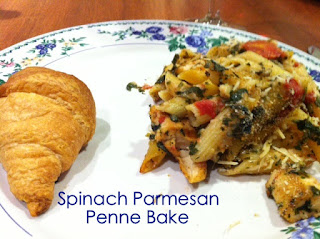 Spinach Parmesan Penne Bake