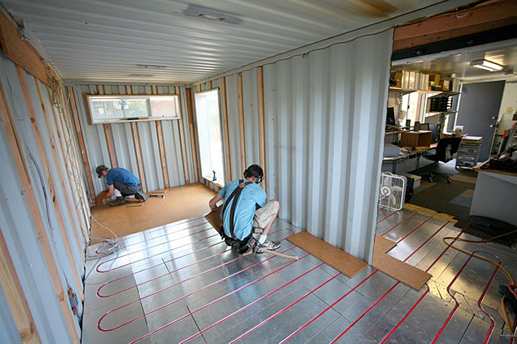 Shipping Container Home Office 750 x 499