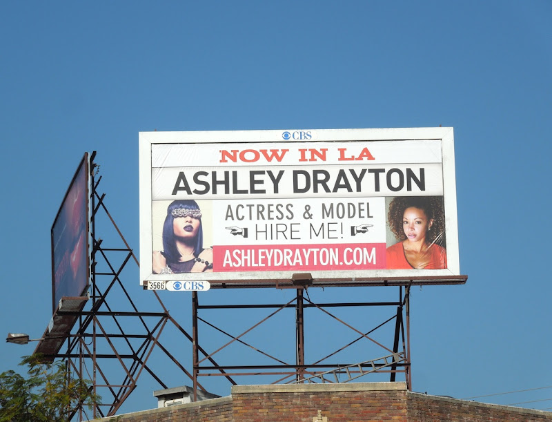 Ashley Drayton Actress Model billboard