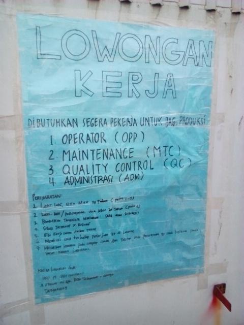 Lowongan Quality Control Tangerang