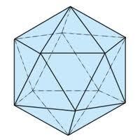 Abb. 5: Ikosaeder (20 Seiten) aus Dreiecken