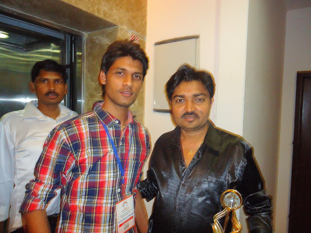 Anshu Dikshant with Bhojpuri Director Rajkumar R Pandey