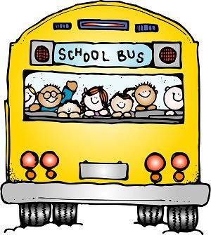 Desenho de ônibus escolar colorido