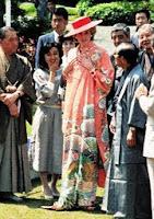 京都・二条城を訪れたダイアナ妃、羽田さんが3ヶ月かけて制作した